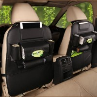 Leather Car Seat Back Organiser Protector