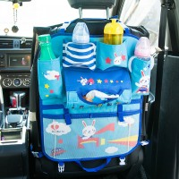 Car Back Seat Organiser Protector for Kids and Baby Rabbit Cartoon
