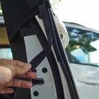 Easy to Install Car Door Window Sunshade Mess Protection from Sun and Insects, Mosquitos, Dust Protection